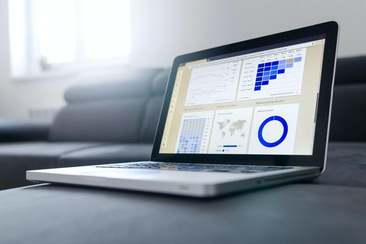 Data analytics dashboard interface