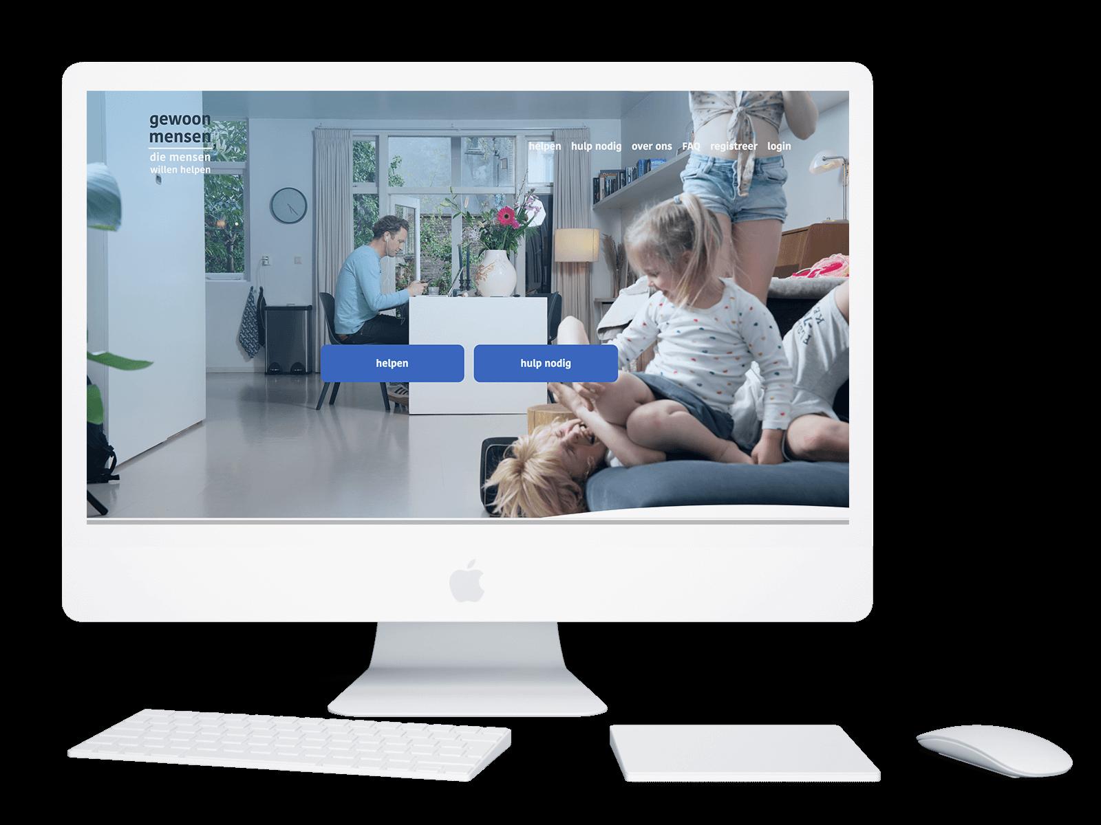 Homepage of people helped at GewoonMensen