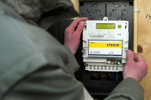 Smart energy meter being installed